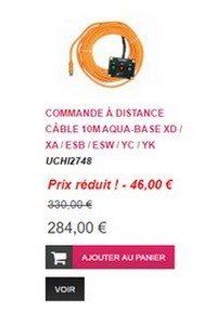 Commande à distance -cable 10 M - Aqua-Base
